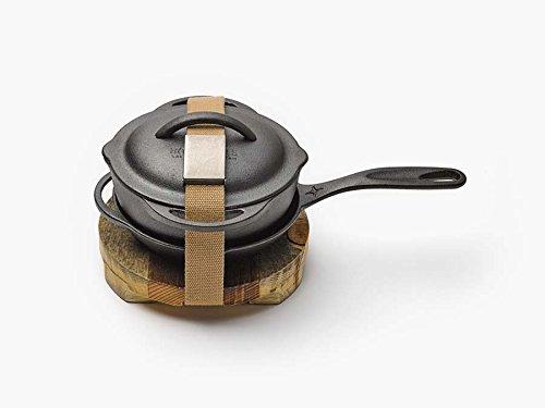 Barebones | Cast Iron Kit, 8 Inch Skillet & Crock Pot with Lid, Trivet, Cleaning Mesh