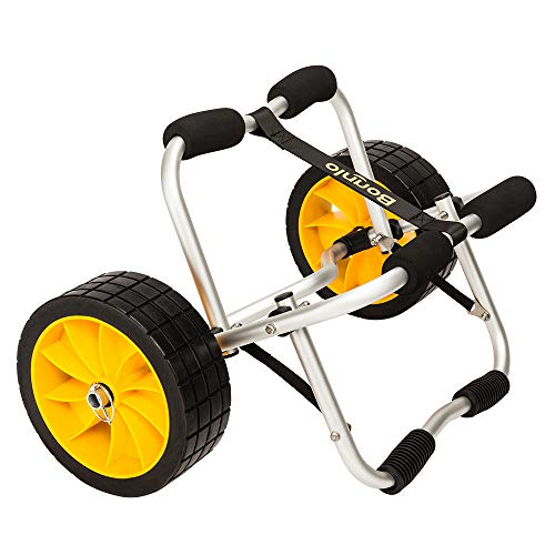 Bonnlo Kayak Dolly Jon Boat Canoe Trolley Cart Trailer Tote Transport Carrier with Solid Tires ()