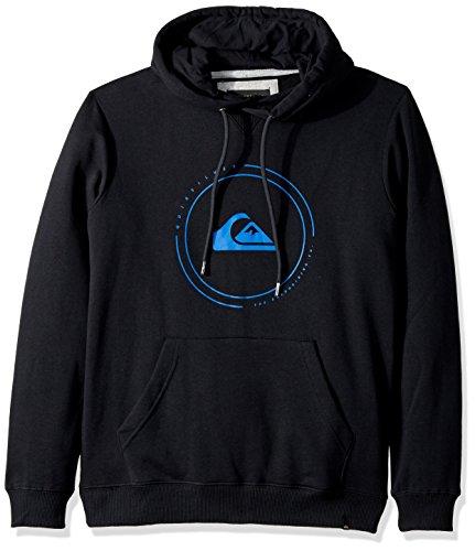 Quiksilver Pullover Sweatshirt - Quiksilver Men's Big Logo Hoody Pullover Sweatshirt,Black,M