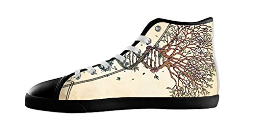 Dalliy Tree of Life Baum des Lebens Mens Canvas shoes Schuhe Lace-up High-top Footwear Sneakers C