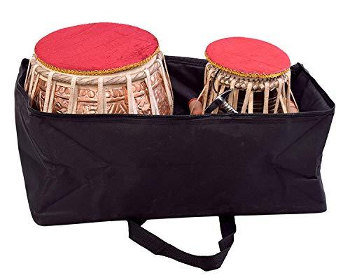 Copper Tabla Set - Tabla Drum Set, SAI Musicals, Professional, 3Kg Designer Copper Bayan, Sheesham Tabla Dayan, Padded Bag, Hammer, Cushions, Cover, Tuned Tabla Set (PDI-EB)