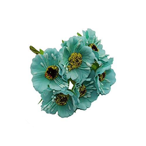 Blue-shore Artificial Flower Head 3.5cm Head Used for DIY Decoration,7
