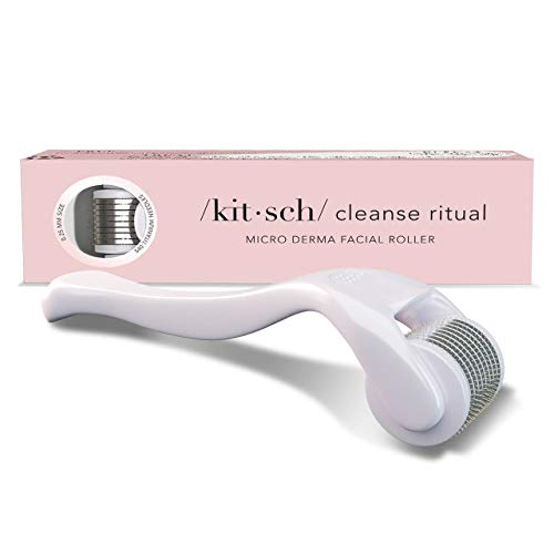 Derma Roller, Anti-Aging and Wrinkle Minimizing Microneedle Roller for Face.25mm Micro Needle Facial Roller, 540 Needle Face Roller with Storage Case By Kitsch