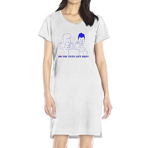 AIJFW Beavis & Butt-Head Women's V-neck Shirt Dress