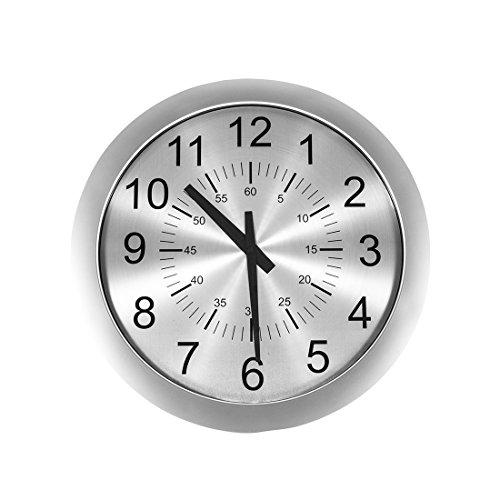 Stilnovo G81420A Verichron Slim Clock, Silver
