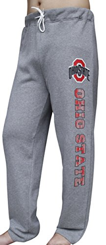 Golden Zone Men's Ohio State Buckeyes Lounge Sweatpants Vintage Trousers - Grey (Size: M)