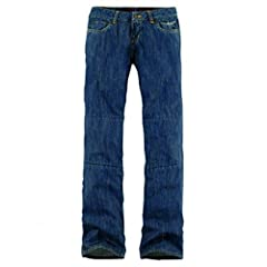 WOMENS SPORT FIT. DURABLE STRETCH DENIM CHASSIS. ARAMID REINFORCED KNEES.