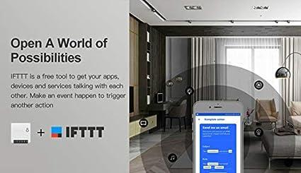 Interruptor inteligente con WiFi interruptor WiFi de dos v/ías mini interruptor inteligente WiFi de SONOFF funciona con Alexa Google Home IFTTT interruptor DIY Home Wall WiFi