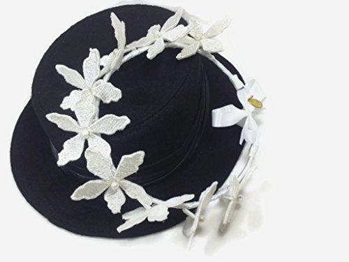 Mock Layer Dog (MeeTHan Vintage Lace Pearl Flower Headband Nacklace:VT2 (FW-White))