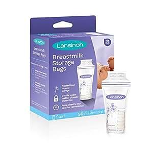 Amazon.com: Lansinoh bolsas de almacenamiento para leche ...