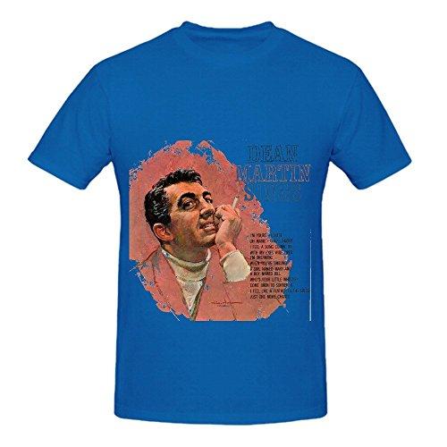 Dean Martin Sings Tour Soul Men Crew Neck Slim Fit Shirt Blue