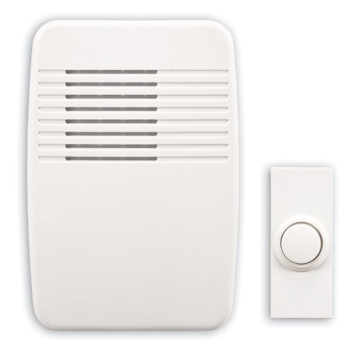 Heath Zenith Doorbell (Heath/Zenith SL-7366-02 Wireless Plug-In Door Chime Kit with Molded Plastic Cover, White)