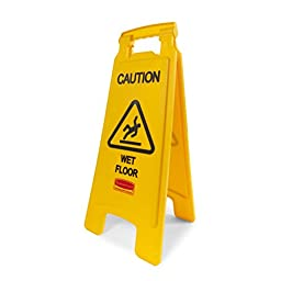 Rubbermaid Commercial 2-Sided Floor Safety Sign with \