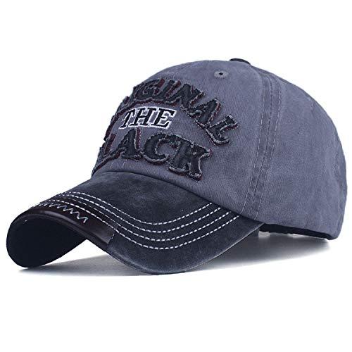 野球帽 男性女性 カジュアルカセットのキャップの文字 刺繍 黒いキャップ,黒灰色,