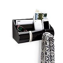 Umbra Coat Hook Rack Wall Organiser - Cubby Flip Black Gloss