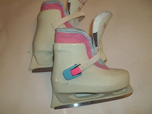 Lake Placid LL Bean Molded Plastic White Ice Figure Skates – Size 12.0-13.0 youngester – Very Good Structual Condition