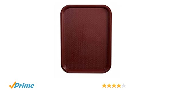 14x18-Inch Burgundy Plastic Fast Food Tray Winco FFT-1418U