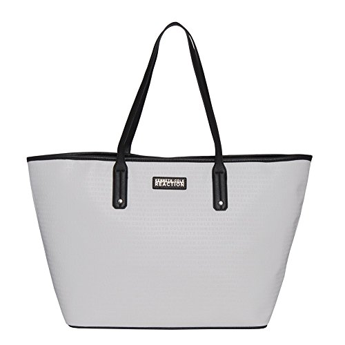 Kenneth Cole Reaction KN1594 Autograph Tote (WHITE/BLACK)