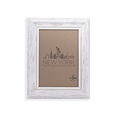 5x7 Picture Frame White / Gold - Mount / Desktop Display, Frames by EcoHome
