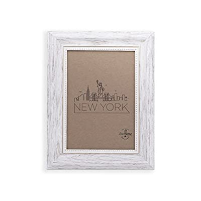 4x6 Picture Frame White/Gold - Mount/Desktop Display, Frames by EcoHome - Picture Frame ready to Mount on the wall or Easel back to display on desktop. Sturdy picture frame to decorate a wall, Vertically and Horizontally. Made of recycled PS and glass. No trees were cut producing our frames!! - picture-frames, bedroom-decor, bedroom - 41FbqDxFrPL. SS400  -