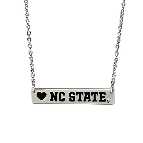 - Fan Frenzy Gifts NCAA NC State Bar Necklace