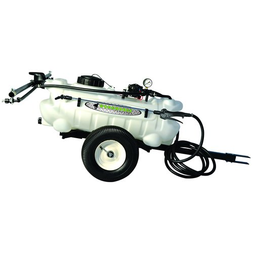 - Green Leaf 15 Gallon Trailer Sprayer with Wand, 2 Nozzle Boom and 2.2 GPM Pump