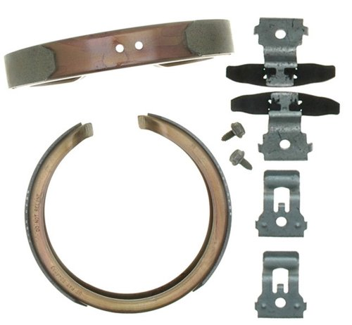Raybestos 781PG Professional Grade Parking Brake Shoe Set - Drum in - Caliper Brake Dust Shields