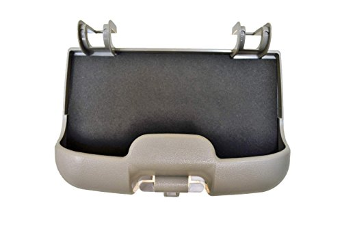 PT Auto Warehouse FO-8523G-SGB - Overhead Console Sunglass Storage Bin, Flint Gray - without Moon Roof (Overhead Storage Bins)