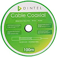 Bobina Cable Coaxial 100m Dintel: Amazon.es: Electrónica