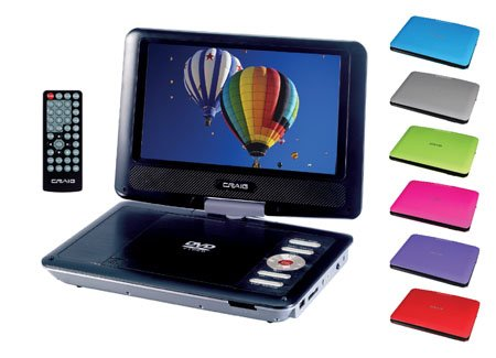 Craig Electronics CTFT713 9-Inch TFT Swivel Screen Portable DVD/CD Player with Remote Control ()