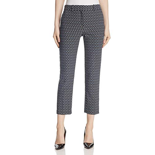 Theory Womens Treeca 2 Geo Print Stretch Cropped Pants Gray 8