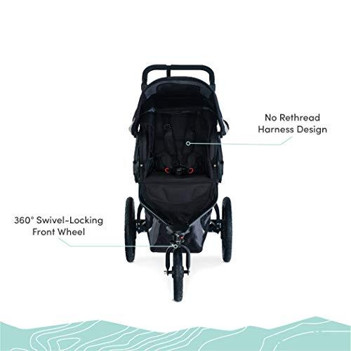 41FbrXjajCL - BOB Gear Revolution Flex 3.0 Jogging Stroller | Smooth Ride Suspension + Easy Fold + Adjustable Handlebar, Graphite Black [New Logo]