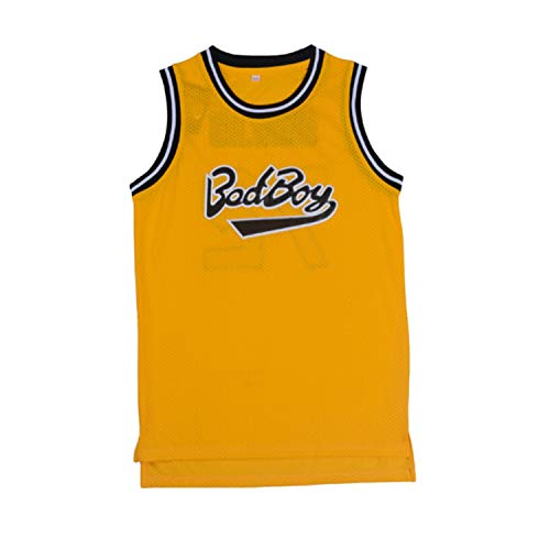 oldtimetown BadBoy' #72 Smalls Basketball Jersey S-XXXL Yellow, 90S Hip Hop Clothing for Party, Stitched Letters and Numbers