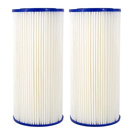 Compatible for HDX4PF4 Pleated High Flow Whole House Water Filter: Reduces Sediment - 30 Micron Water Filters 2 Pack (Whole House Water Filters)