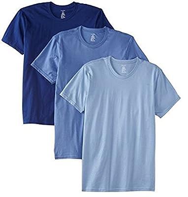 Calvin Klein Mens 3-PK Crew Neck Tee, Blue, XL