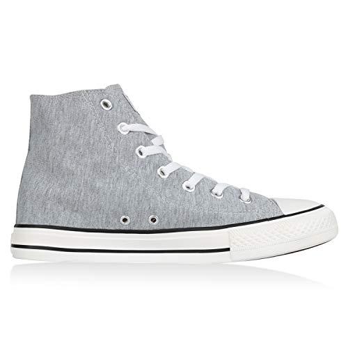 VITA SCARPE Sneaker High Herren Unisex Damen Übergrößen Hellgrau Hwwq87aT