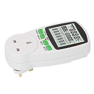 7 display modes smart plug Ac Power Meter, Electricity Usage Monitor power meter lcd display energy monitoring(British…