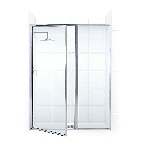 Coastal Shower Doors L31IL18.69B-C Legend Series Framed Hinge Swing Shower Door with Inline Panel in Clear ()