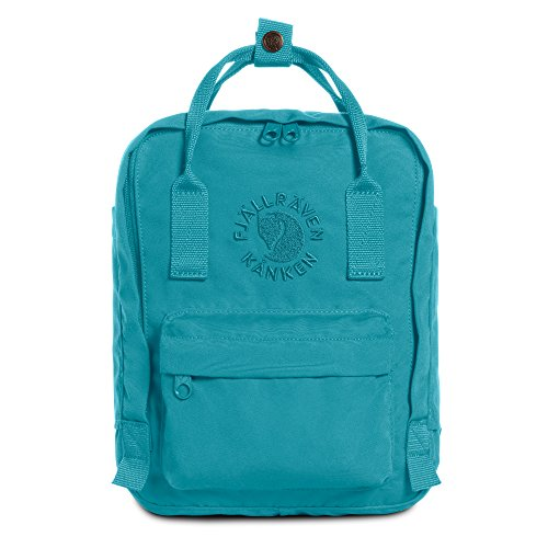 Fjallraven - Kanken, Re-Kanken Mini Recycled Backpack for Everyday Use, Heritage and Responsibility Since 1960, Lagoon