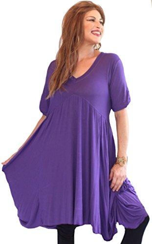 LOTUSTRADERS Damen Babydoll Kurzes Kleid Purple WZeqlKzvu - lackey ...