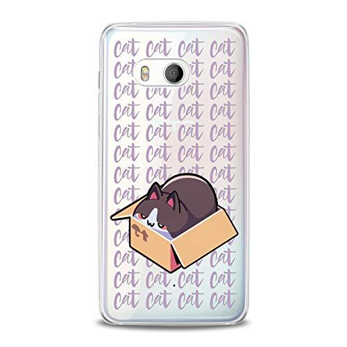Lex Altern TPU Case for HTC Desire 12 Plus U12 Plus U11 Life Dual Sim Fatty Cat in Box Cover Kawaii Meow Pur Pur Smooth Clear Design Pussycat Gift Print Soft Lightweight Slim fit Feline Flexible Kid]()