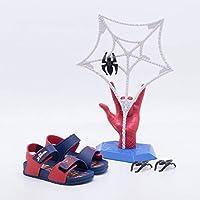 Sandália Infantil Grendene Homem-Aranha Spider Jump - Azul e Vermelho - 32/33
