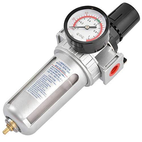 Compressed Air Filter Regulator Combo Piggyback Style, 3/8