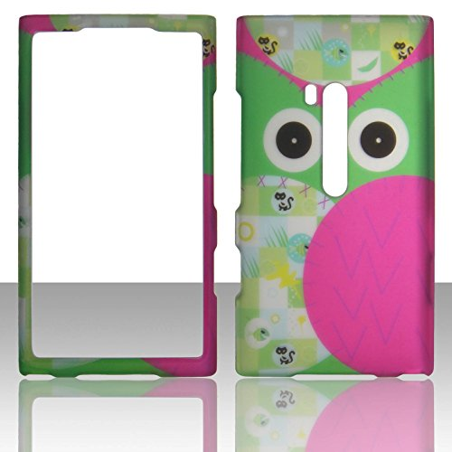 2D Green Owl Nokia lumia 920 AT&T Case Snap-on Case Cover Hard Shell Protector Cover Phone Hard Case ()