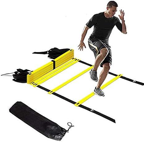 N/A El Movimiento del Cono Football Fence Entrenamiento de fútbol Escalera de Velocidad de la Agilidad de fútbol Escalera Duradero Gimnasio al Aire Libre Equipo de Entrenamiento Cono de Movimiento: Amazon.es: Deportes