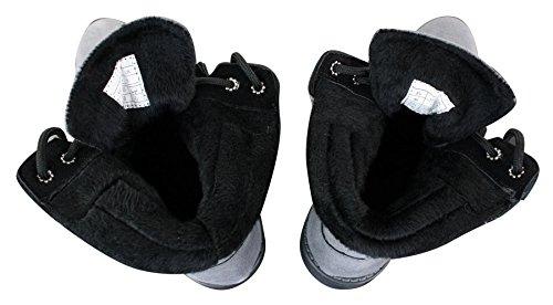 Bottines avec homme chaudement véritable l'hiver daim zip pour style doublées et militaire Gris lacets fermeture XXrqdn