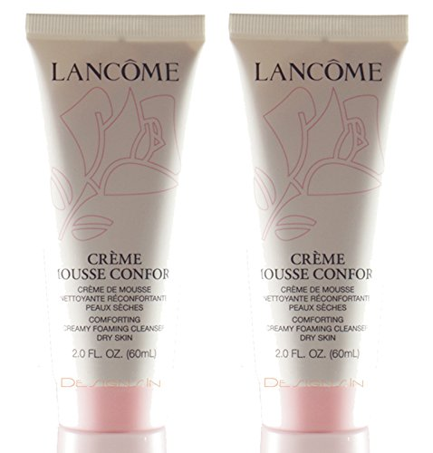 Creme Mousse Confort Comforting Creamy Foaming Cleanser 2 oz/60ml Each (Lot of 2)