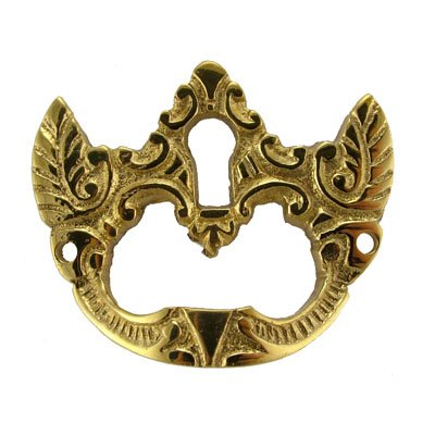 E-214 ANTIQUE BRASS DRAWER PULL WITH KEYHOLE + FREE BONUS (SKELETON KEY BADGE)