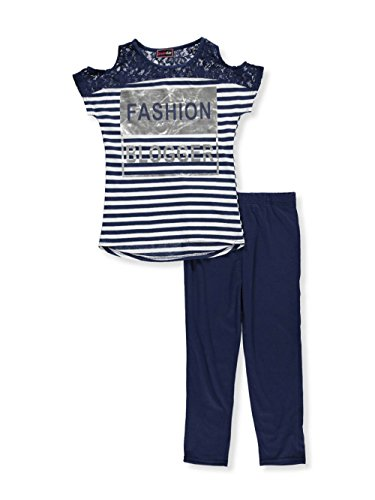 Dreamstar Dream Star Big Girls' 2-Piece Outfit - Navy/Multi, 7-8 (Outfit Dream)