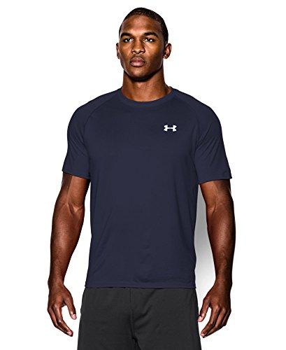 Men's UA TechTM Shortsleeve T-Shirt Tops by Under Armour(Midnight Navy/white, Medium)